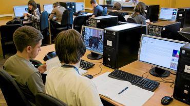 Lekcja informatyki w III LO w Bielsku-Białej