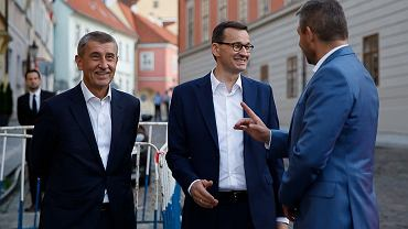 Mateusz Morawiecki na spotkaniu z liderami Grupy Wyszehradzkiej