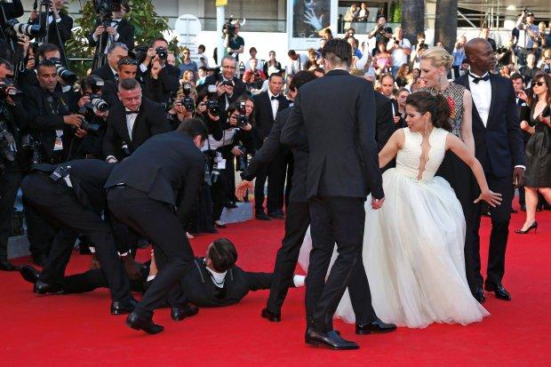 Vitalii Sediuk, America Ferrera, skandal w Cannes