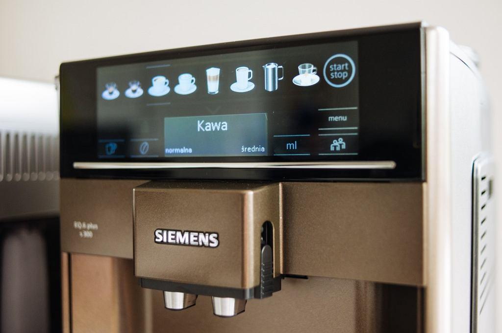 Wyświetlacz w ekspresie Siemens