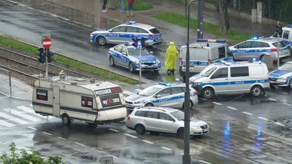 Policja na ul. Mickiewicza