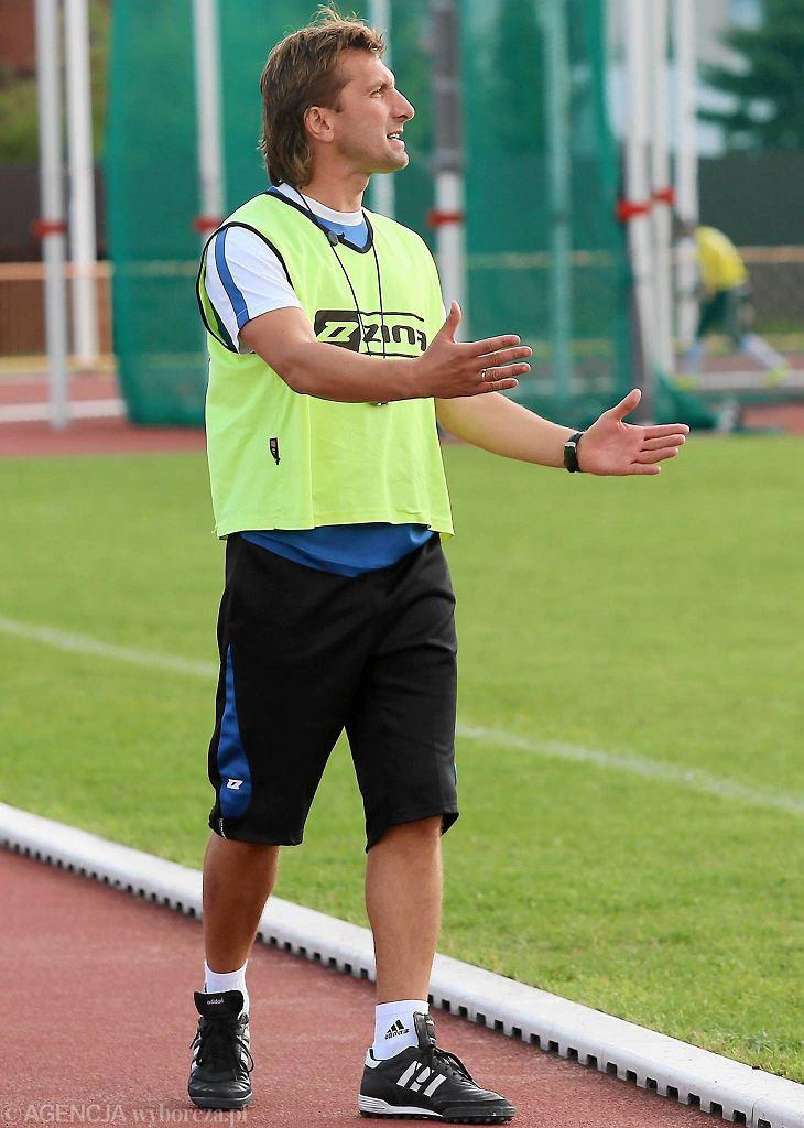 Trener Młodej Wisły Artur Serocki