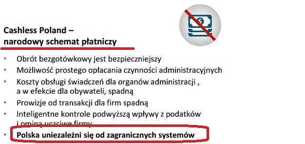 Fragment planu Morawieckiego o narodowej karcie płatniczej