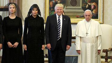 Donald Trump w delegacją w Watykanie