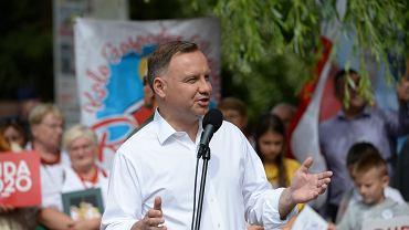 Andrzej Duda na przedwyborczym wiecu w Zachodniopomorskiem
