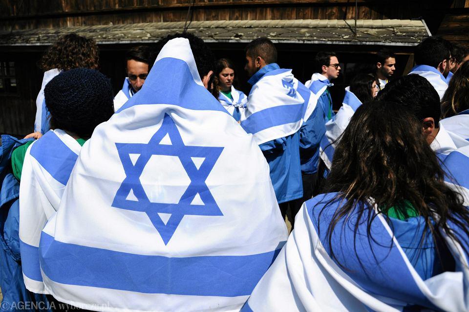 Izraelska młodzież w Oświęcimiu. 16.04.2015.