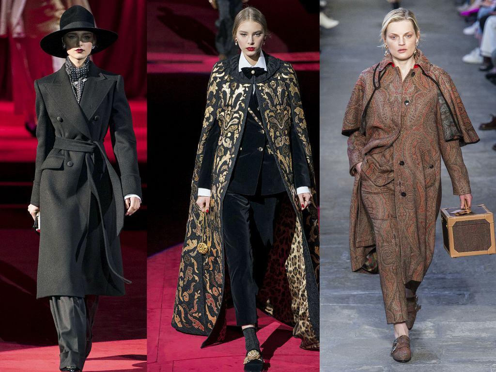 Dandys w damskim wydaniu w kolekcjach Dolce&Gabbana oraz Etro