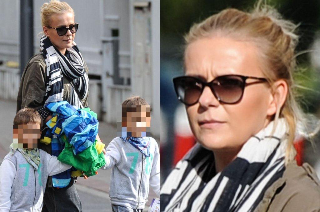 Paparazzo zrobił zdjęcia Anecie Zając, gdy odprowadzała swoich dwóch synów bliźniaków - Roberta i Michała - do przedszkola. Chłopcy mają już 4 lata.
