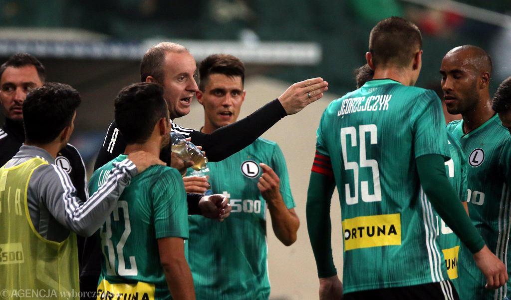 Trener Aleksandar Vuković podczas meczu Legia Warszawa - Omonia Nikozja
