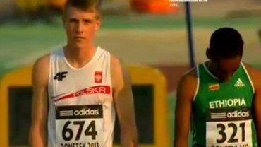 Mateusz Kaczmarek na mistrzostwach świata juniorów w Doniecku