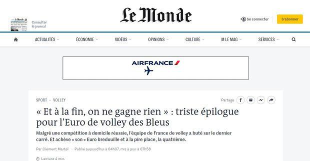 Francuskie media po porażce z Polską