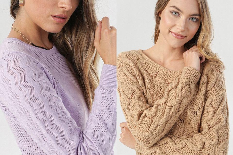 Ażurowe swetry damskie