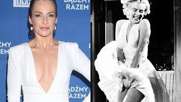 Anna Dereszowska odtworzyła kultową scenę z Marilyn Monroe