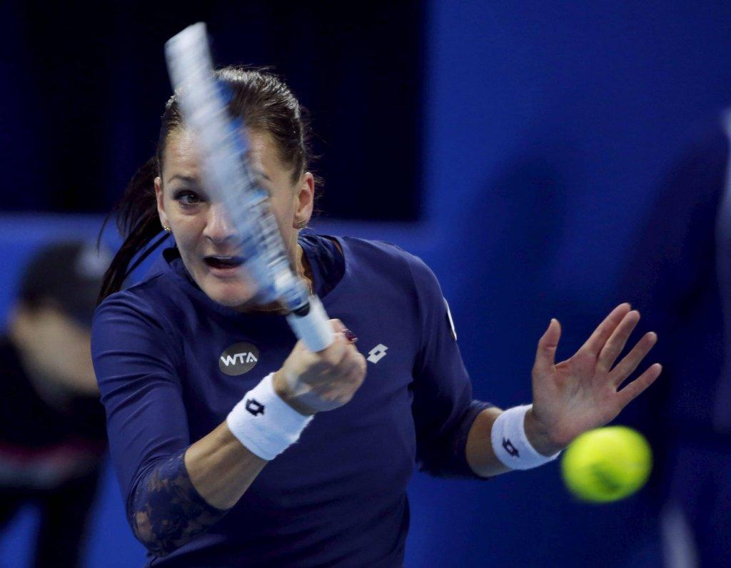 Agnieszka Radwańska w meczu z Garbine Muguruzą