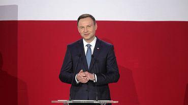 Andrzej Duda w swoim sztabie wyborczym po wybraniu go na prezydenta Polski