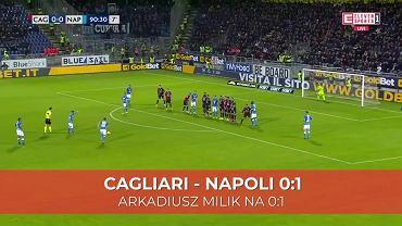 Arkadiusz Milik strzelił pięknego gola z rzutu wolnego