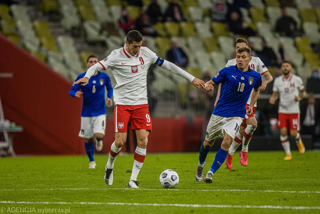 Polska - Włochy. Robert Lewandowski