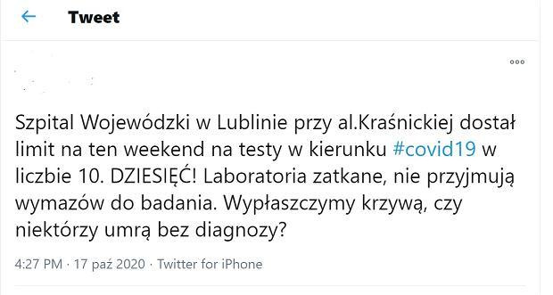 screen z Twittera