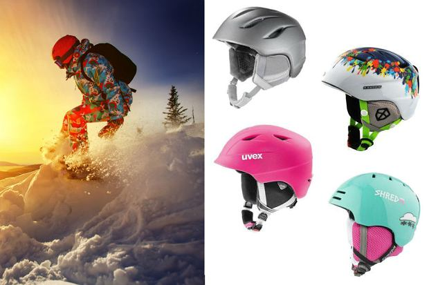 Kolaż / Kaski snowboardowe / Materiały partnerów