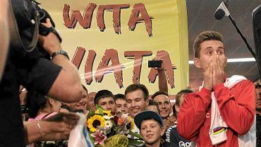Powitanie Michała Kwiatkowskiego w Warszawie