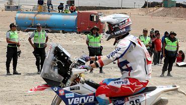 Maciej Giemza na trasie Rajdu Dakar