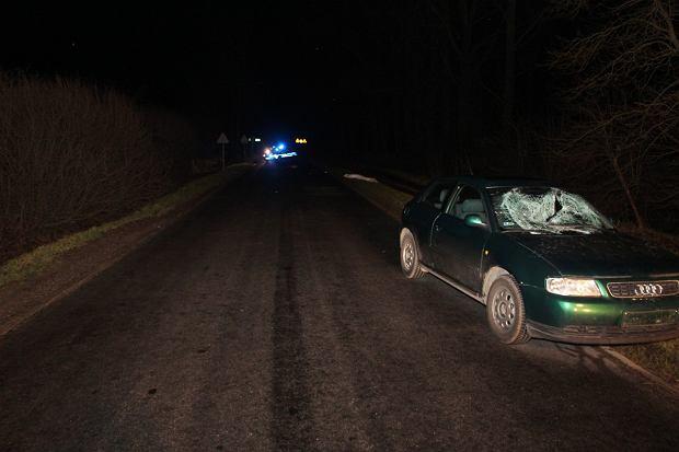 Wypadek niedaleko miejscowości Rzadkwin