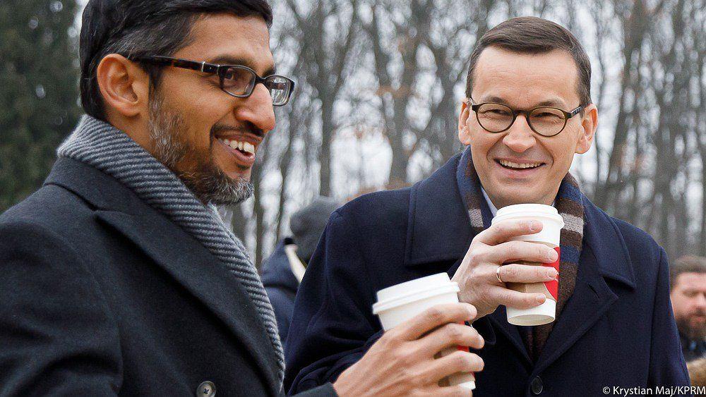 Premier Morawiecki spotkał się z CEO Google