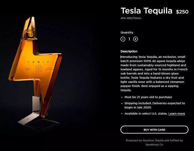 Tesla Tequila za 250 dolarów
