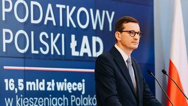 Premier Mateusz Morawiecki prezentuje Polski Ład