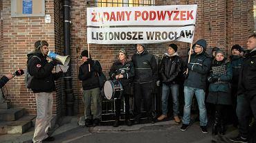 Protest listonoszy w styczniu 2017 r.