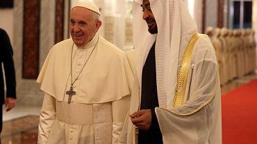 Papież Franciszek podczas wizyty w Zjednoczonych Emiratach Arabskich