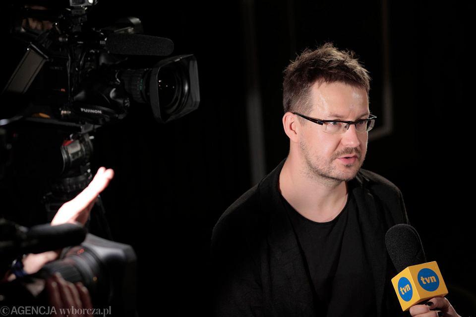 Łukasz Żal na konferencji prasowej w Warszawie po nominacji 'Zimnej wojny' do Oscara