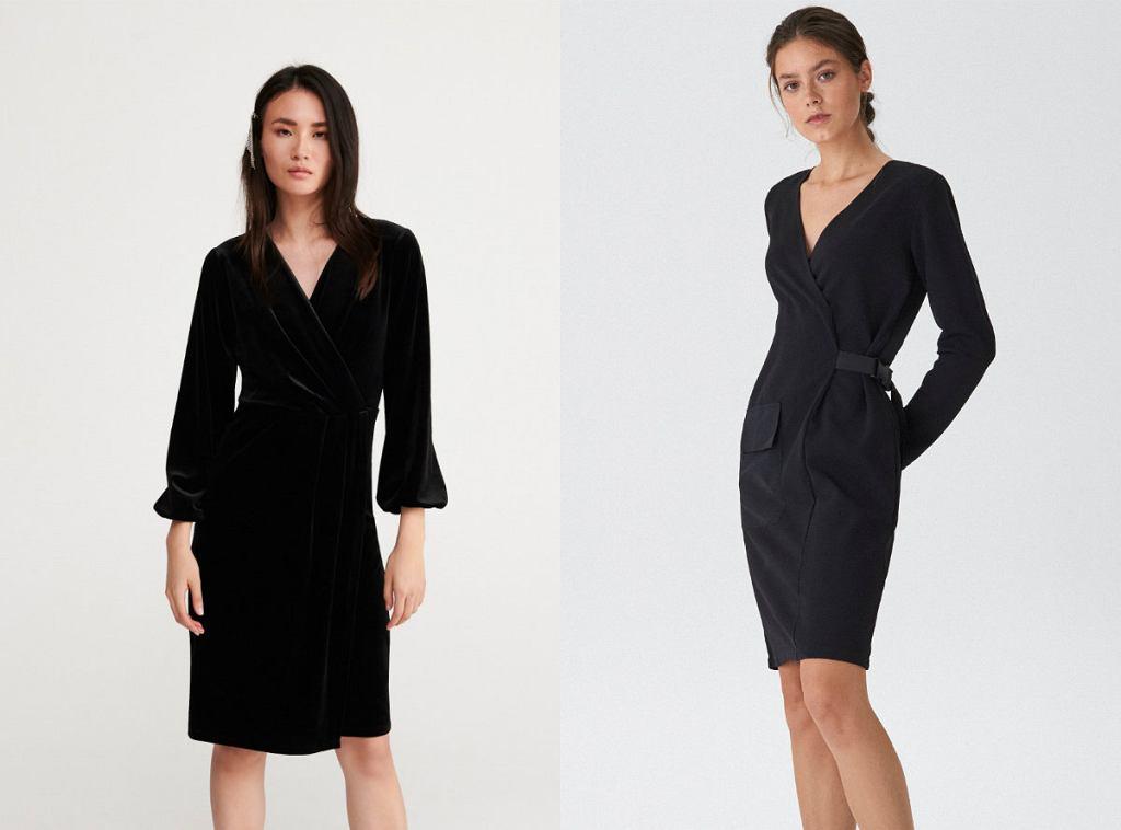 Eleganckie sukienki wizytowe czarne