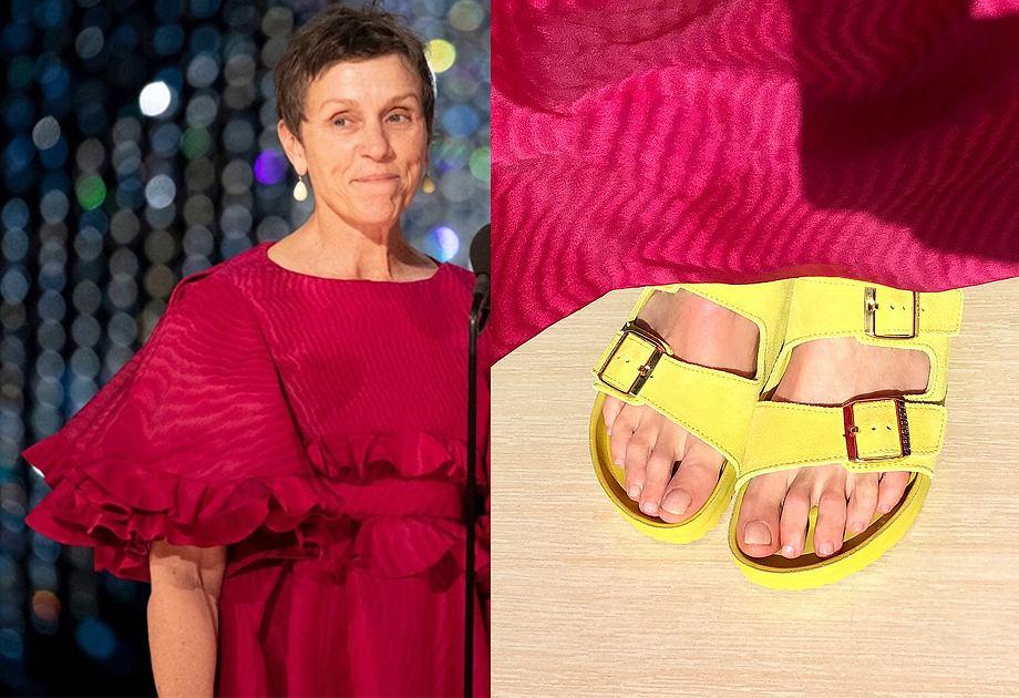 0181f6a1968407 Oscary 2019: Frances McDormand wystąpiła na gali w klapkach Birkenstock |  Moda i Trendy