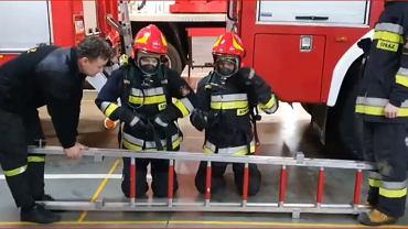 Drabina Challenge w wykonaniu bydgoskich strażaków z Fordonu