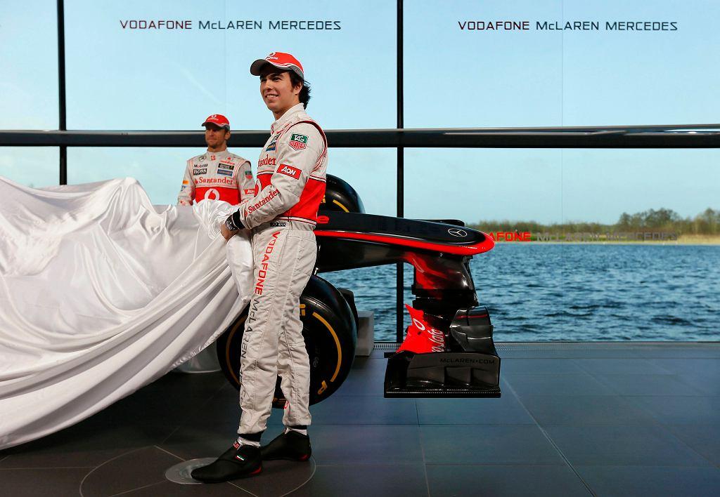 Sergio Perez podczas prezentacji bolidu McLarena