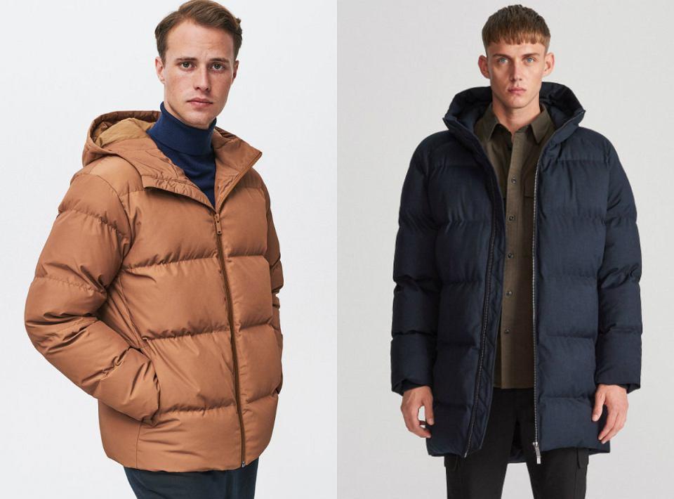 Pikowane kurtki męskie z wyprzedaży