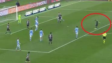 Gol Karola Linettego w meczu Lazio - Sampdoria