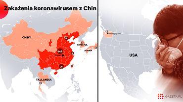 Zakażenia koronawirusem z Chin