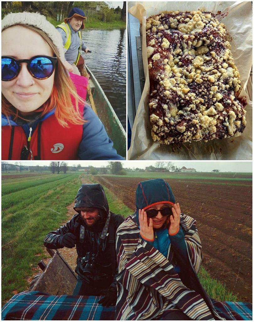40 km od Warszawy,w Jackowie Dolnym, o którym chyba mało kto wie, można pływać pychówką po Bugu, podglądać bobry, jeździć wozem po polach (tego dnia zaliczyliśmy wszystkie pory roku, na zdjęciu poniżej walka z gradem, 5 minut później wyszło słońce) i zjeść najlepsze drożdżowe ciasto w agroturystyce 'Dom nad Wierzbami'. Wolna środa to jest to!