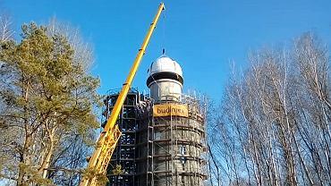 Uniwersytet w Białymstoku. Kolejny krok w kierunku ukończenia budowy obserwatorium na kampusie uniwersyteckim został wykonany. Budowla ma już 'dach'