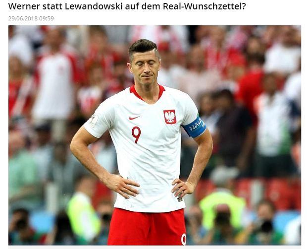 Transfery. Media: Real już nie chce Lewandowskiego. Woli Timo Wernera