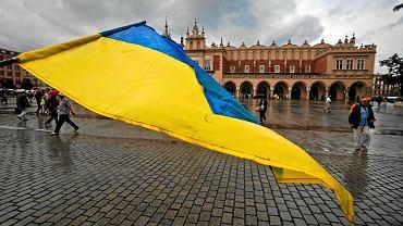 Antywojenna manifestacja Ukraińców w Krakowie