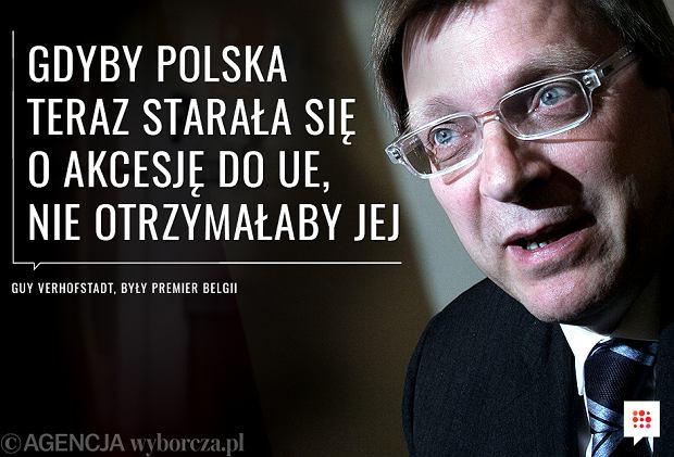 Guy Verhofstadt o cytuacji w Polsce [CYTAT]