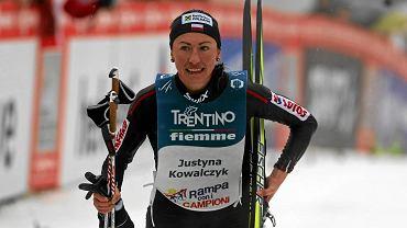 Justyna Kowalczyk na zawodach we Włoszech