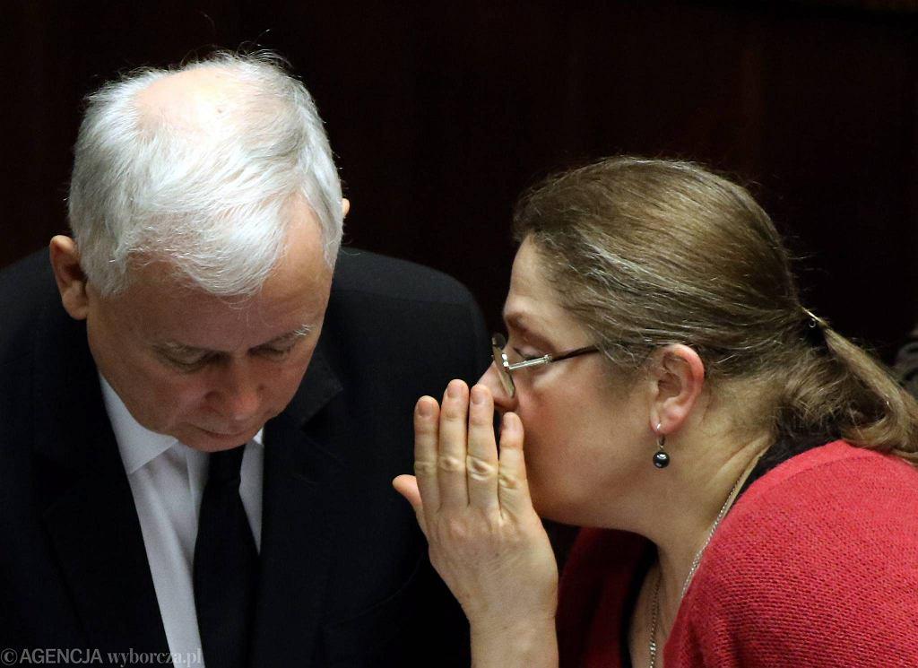 Jarosław Kaczyński i Krystyna Pawłowicz