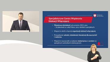 Konferencja ministra Czarnka