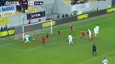 Tomasz Kedziora z pierwszym trafieniem w sezonie 2020/21. Dynamo Kijów 4:1 FK Lwów; Źródło: Twitter