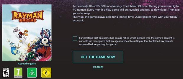 Rayman: Origin za darmo z okazji 30-lecia Ubisoft