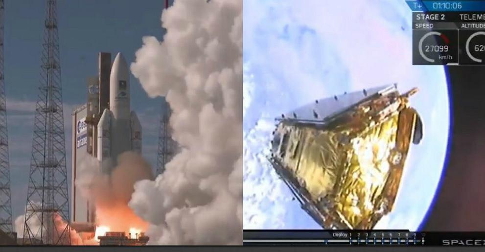 Misje kosmiczne Arianespace i SpaceX